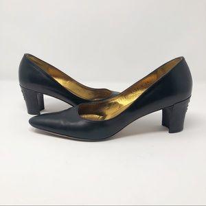 SALVATORE FERRAGAMO Black Heels with Design - 9